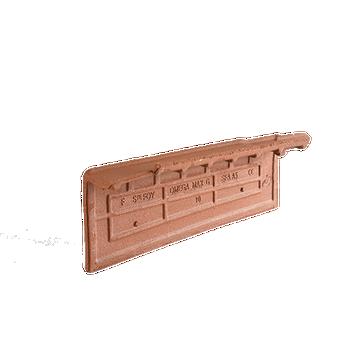 Accessoire terre cuite d'EDILIANS : Rive Individuelle gauche à emboîtement OMEGA 10/OMEGA MAX