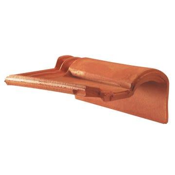 Accessoire terre cuite d'EDILIANS : Tuile de rive à rabat droite à emboîtement 2/3 pureau MERIDIONALE Rouge