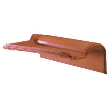 Accessoire terre cuite d'EDILIANS : Tuile de rive à rabat droite à emboîtement MERIDIONALE Rouge