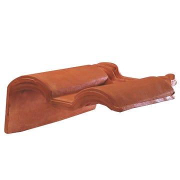 Accessoire terre cuite d'EDILIANS : Tuile de rive à rabat gauche à recouvrement 2/3 pureau MERIDIONALE Rouge