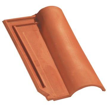 Accessoire terre cuite d'EDILIANS : Tuile de finition droite à emboîtement MERIDIONALE Rouge
