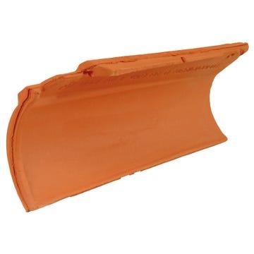 Accessoire terre cuite d'EDILIANS : Rive ronde individuel le gauche à emboîtement MERIDIONALE/AQUITAINE Rouge