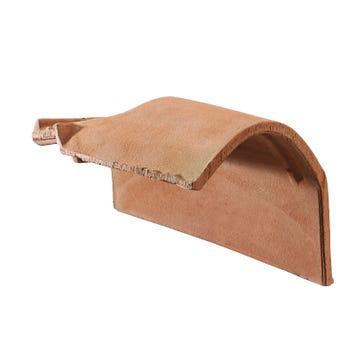 Accessoire terre cuite d'EDILIANS : Tuile de rive à rabat sous-faîtière droite à recouvrement 2/3 pureau MEDIANE PLUS Rouge