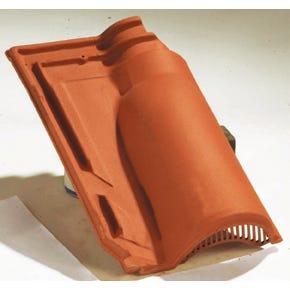 Accessoire terre cuite d'EDILIANS : Tuile de ventilation MERIDIONALE Rouge