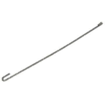 Crochet long à oeil cambré 55 cm acier galva
