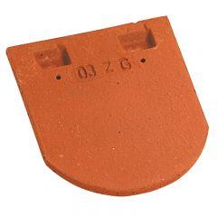 Accessoire terre cuite d'EDILIANS : Tuile courte de faîtage pour PLATE ECAILLE pressée 17x27 Rouge Nuancé
