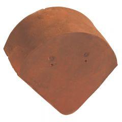 Accessoire terre cuite d'EDILIANS : Fronton pour faîtière demi ronde sans emboîtement Rustique