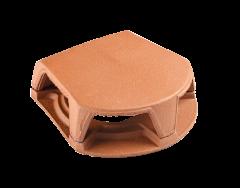 Accessoire terre cuite d'EDILIANS : Lanterne Bi-Section 126/160 section aération 259 Rouge