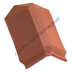 Extremo de tesa angular con borde Flameado Rustico